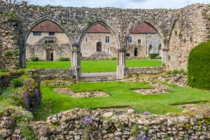 Ruins of the abbey cloister buildings