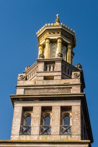 The gilded top of the Tower