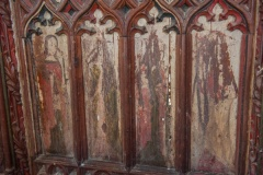 16th century painted rood screen