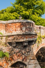 Remains of a gatehouse turret