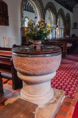 Lead-lined Norman font