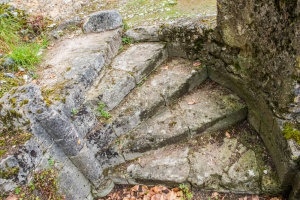 Remains of a 12th century spiral stair