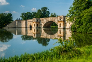Capability Brown bridge in the grounds of Blenheim Palace