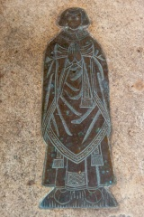 15th century priest's memorial brass