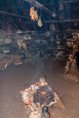 A peat fire on the hearth