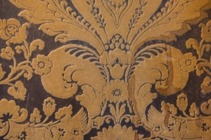 Flocked wallpaper in the State Drawing Room