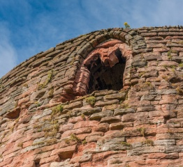 Traceried window high on the Donjon Tower