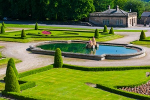 The museum formal gardens