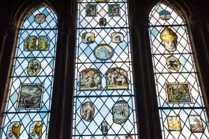 Medieval glass, east window