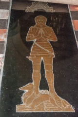 15th century Scott memorial brass
