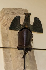 Thomas Scott funeral helm in the chancel