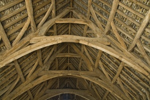 The cruck-frame timber roof