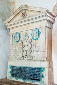 Joan Wadham memorial, 1583