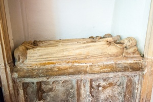 Medieval altar tomb in the chancel