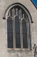 East window tracery, exterior