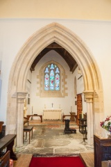 The 13th century chancel arch