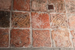 14th century floor tiles in the chancel