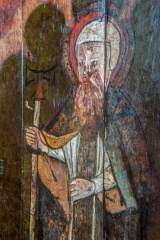 Medieval painted figure on the parclose screen