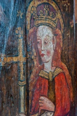 Medieval figure, parclose screen