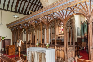 The superb Tudor screen