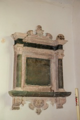 17th century memorial in the chancel