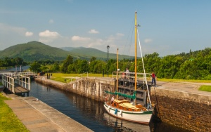 Neptune's Staircase, on the Caledonian Canal