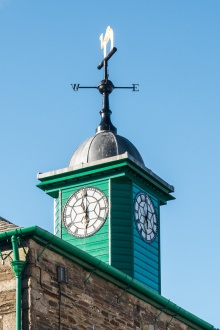The iconic town hall clock tower