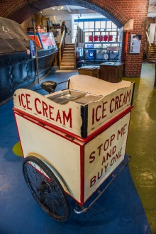 A historic ice cream vendor's trolly