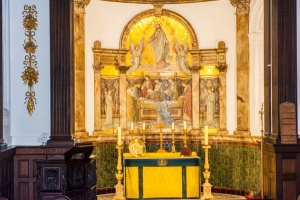 The Chapel altar and reredos by Salviati