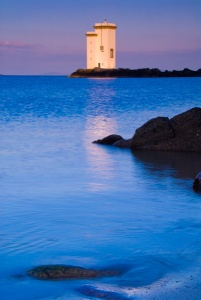 Carraig Fhada lighthouse at sunset