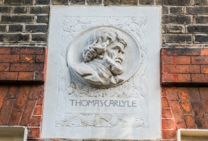 Bust of Carlyle on the front facade