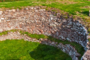 Inside the broch walls