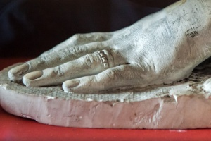 Plaster cast of Mary, Queen of Scot's hand