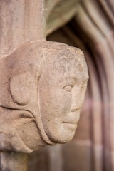Carved head, 14th c sedilia