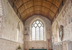 The chancel and wall paintings
