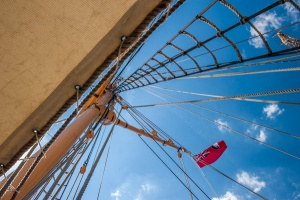 The Gannet's rigging