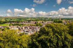 The view over Clitheroe from the castle mound