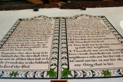 Painted decalogue panels