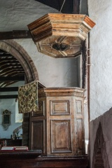 Jacobean pulpit and sounding board