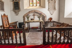 Late 17th century communion table and rails