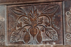 17th century carved choir stall