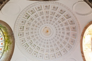The domed ceiling