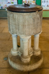 13th century Early English font