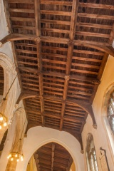 South aisle timber roof