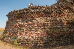 Balkerne Hill section of wall