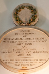 Memorial to Rear Admiral George Elliott (d. 1795)