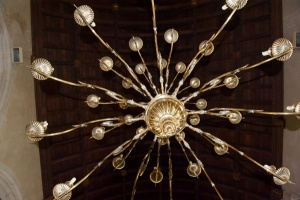 18th century chandelier in the nave