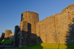 The town walls in evening light