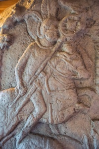 Carving of a Roman cavalryman