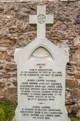 Memorial to men of the Stonehaven lifeboat